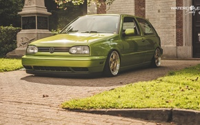 Picture volkswagen, Golf, golf, tuning, germany, low, r32, stance, mk3, vr6