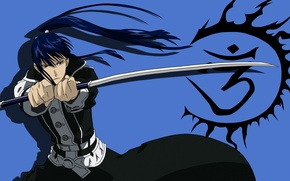 Picture look, sword, anime, guy, D. Gray-man