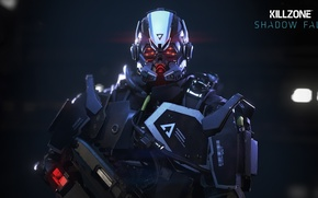 Picture gun, logo, game, Killzone, Sony, soldier, weapon, war, nanosuit, shotgun, pose, suit, shot, armour, warrior, …