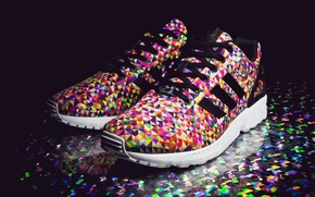 Picture Adidas, sneakers, Adidas, Multi Color, ZX Flux, Prisms