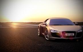 Picture The sun, The sky, Audi, Sun, Supercar, Supercar, Audi. R8