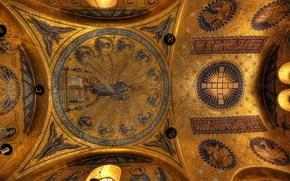 Picture France, mural, the dome, chapel, religion, Alsace, monastery, Mont-Sainte-Odile