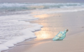 Picture sand, sea, letter, water, nature, river, background, widescreen, Wallpaper, wave, bottle, wallpaper, note, sea, nature, ...