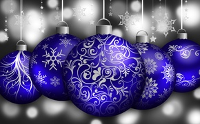 Picture pattern, new year, Christmas, vector, ball, snowflake