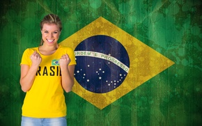 Picture football, flag, World Cup, Brasil, FIFA