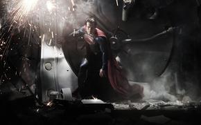 Picture sparks, costume, male, superman, cloak, Superman, superhero, Superman