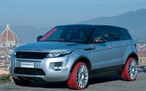 Picture red, Land Rover, Range Rover, tuning, Evoque, Marangoni, Marangoni, colored tires, HFI-R