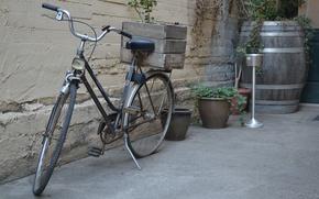 Picture bike, retro, box, Greece