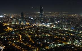 Picture night, night, Chile, noche, Santiago, Santiago de Chile