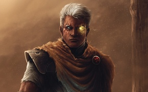 Picture art, male, Marvel, thegameworld, Cable