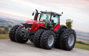 Picture wallpaper, tractor, agriculture, farming, Massey Ferguson, 8737