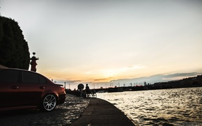 Wallpaper machine, auto, the sky, river, BMW, Shadow, auto, side, review, E60, The how to check ...