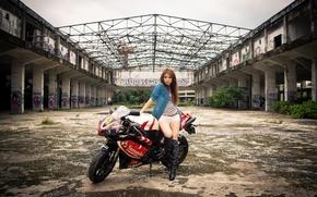 Picture Girl, Model, Girl, Motorcycle, Yamaha, Model, Yamaha, Motocycle, Korean