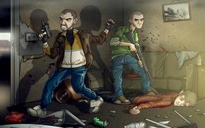 "Picture machine, shotgun, Grand Theft Auto IV, Patrick ""Pucky"" McCreary, Niko Bellic, Niko Bellic, Patrick «Packie» …"