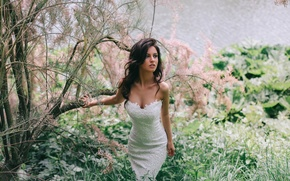 Picture look, nature, dress, neckline, Let's find a wonderful place to get lost