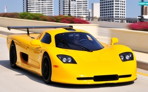 Picture supercar, yellow, Mosler
