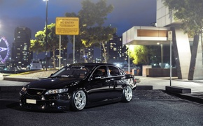 Picture city, wheels, honda, black, japan, jdm, tuning, accord, low, acura, town, stance, tlx