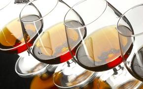 Wallpaper Glasses, Cognac, Alcohol