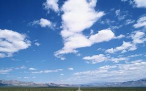 Wallpaper clouds, dal, Road