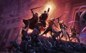 Picture castle, monsters, battle, heroes, game wallpapers, Pillars of Eternity
