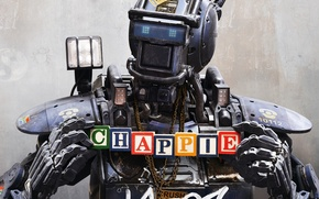 Picture the film, cubes, robot, Chappie, The robot named Chappy, Chappy