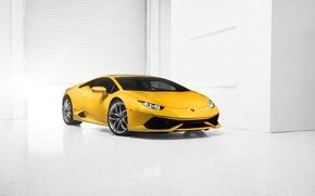 Picture Lamborghini, Car, Front, Yellow, Photo, Supercar, 2014, Huracan, LP610-4