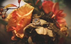 Picture flowers, ring, decoration