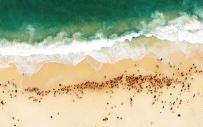 Picture sea, beach, shore, Australia, Sydney, swimmers, Bondi Beach