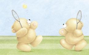 Picture summer, mood, the game, art, bear, children's, Forever Friends Deckchair bear