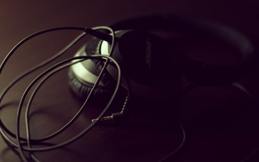 Picture music, headphones, wire