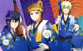 Picture anime, art, umbrellas, guys, Servamp, Servant vampire