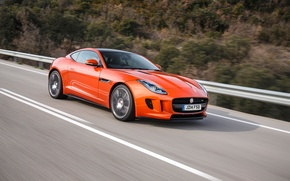 Wallpaper Jaguar, Orange, Orange, F-Type