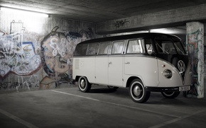 Wallpaper 158, Volkswagen, graffiti, garage