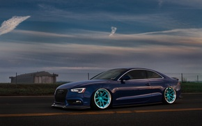 Picture Audi, Sky, Blue, RS5, Wheels