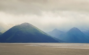 Picture USA, Alaska, United States, mountains, clouds, shore, United States of America, Anchorage, Gulf of Alaska, …