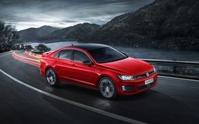 Picture Red, Volkswagen, Movement, Car, GTS, 2016, Lamando