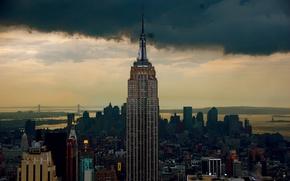 Picture skyscraper, New York, America, the Empire state building