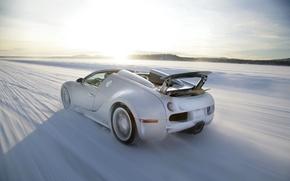 Picture winter, speed, Bugatti, Veyron, Bugatti, winter, speed, Veyron, Grand Sport, 16.4