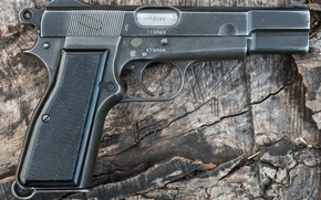 Picture gun, weapons, self-loading, Browning Hi-Power
