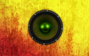 Picture color, yellow, red, concrete, Speaker