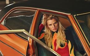 Picture auto, model, blonde, photoshoot, Lara Stone, Lara Stone, Emma Tempest, Russh