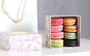Picture box, gift, cookies, sweets, dessert, Macaron