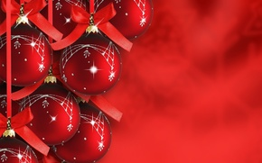 Picture decoration, snowflakes, tape, holiday, balls, Wallpaper, toys, Shine, Christmas, bow