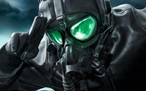 Wallpaper art, glasses, gas mask, pilot, comic, romance of the Apocalypse, romantically apocalyptic, leather jacket