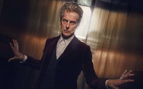 Picture hands, wall, look, actor, The Twelfth Doctor, Twelfth Doctor, male, Doctor Who, Doctor Who, Peter …