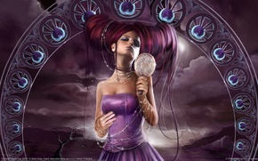 Picture purple, fantasy, hairstyle, greed, marta dahlig