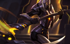 Picture warrior, braid, art, armor, Heroes of Newerth, Faydee, Ascension Fayde