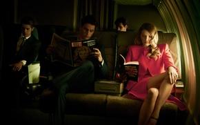 Wallpaper read, men, Lily Donaldson, the plane, girl, salon, journal, Lily Donaldson, model