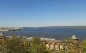 Picture the Volga river, Nizhny Novgorod arrow, nijni Novgorod arrow