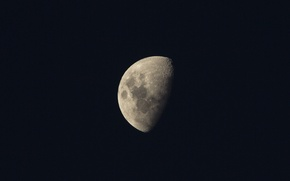 Picture surface, the moon, satellite, moon